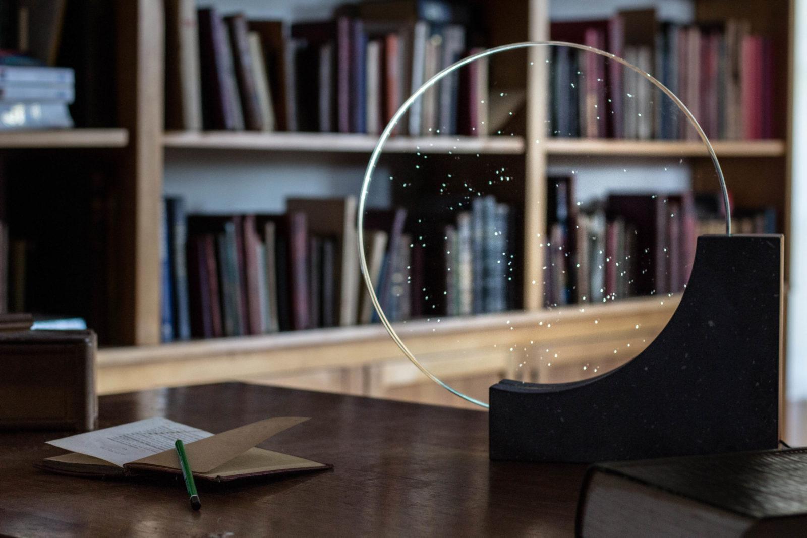 Lave lampe verre lumière nosqua luxe bibliothèque