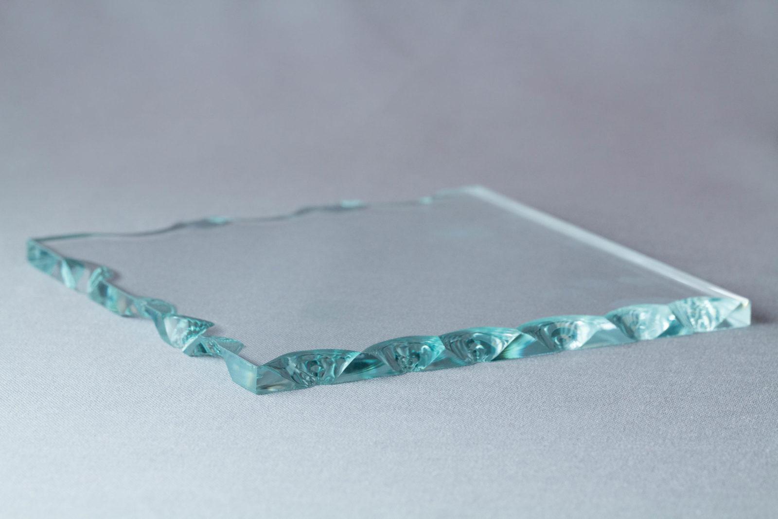 Echantillon verre coquillage
