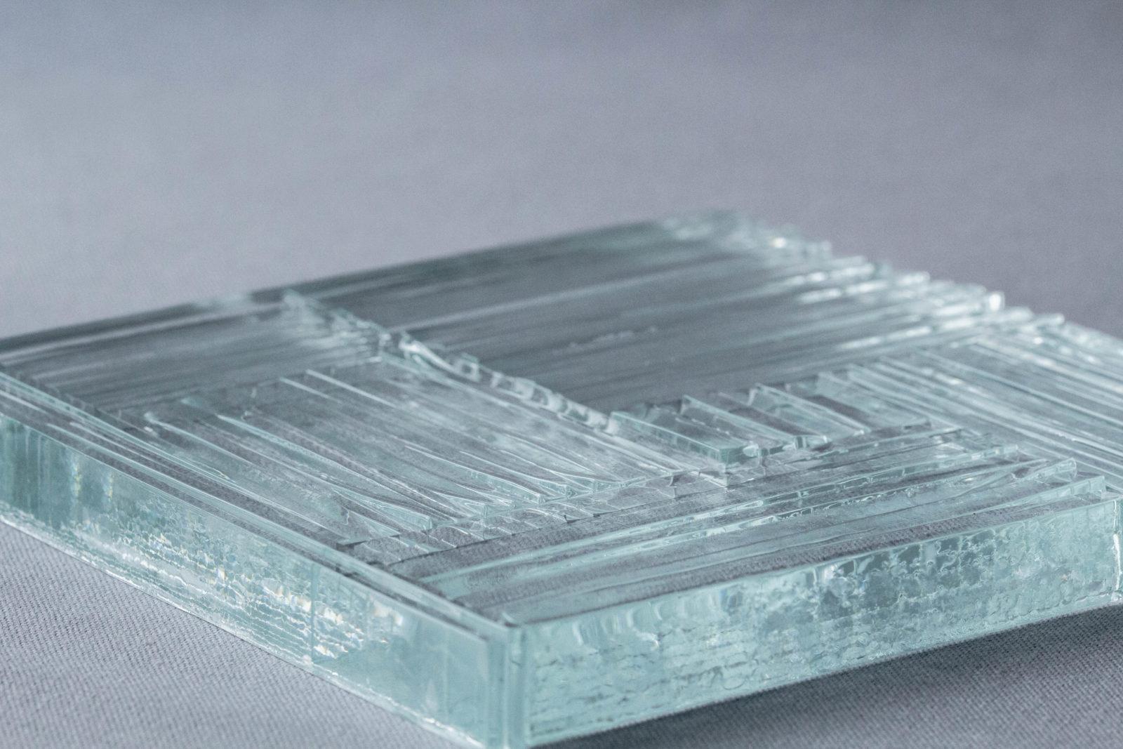 Echantillon Thermocollage Fragment verre