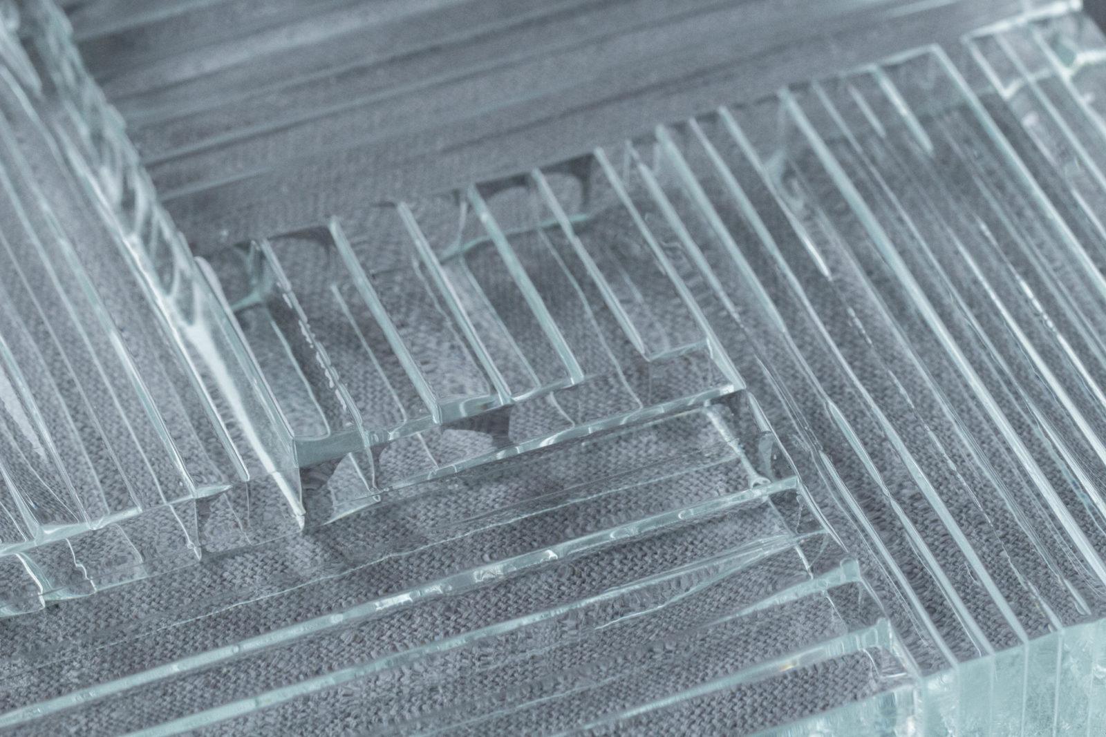 Echantillon Thermocollage Fragment zoom verre