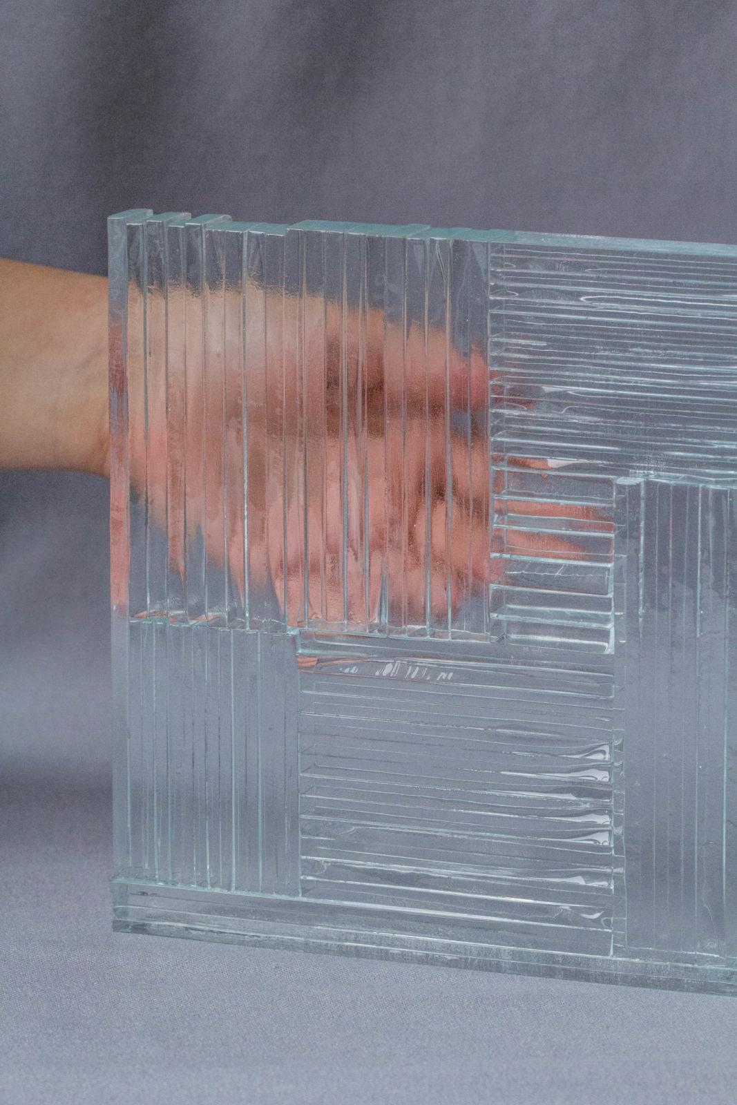 Echantillon Thermocollage Fragment main verre