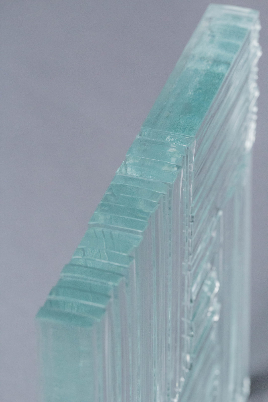 Echantillon Thermocollage Fragment tranche verre